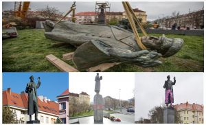 The Marshall Ivan Konev Monument was demolished in Prague