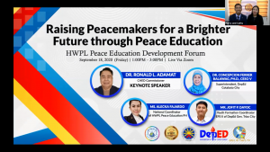 CHED, DEPED and HWPL Unite