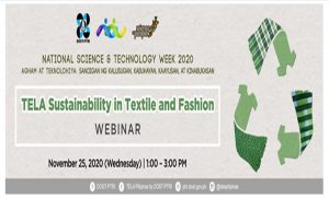 DOST-PTRI hosts webinar on sustainable textile during the science week