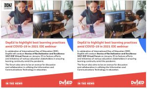 DepEd to highlight best learning practices amid COVID-19 in 2021 IDE webinar