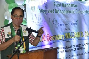 DA chief inaugurates the Triple A slaughterhouse in Lipa City