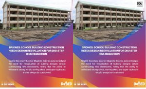 Ensuring school building construction design to withstand strong winds earthquakes and super typhoons as disaster risk reduction