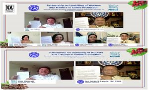 Virtual Signing of Memorandum of Agreement between TESDA and Nestlé Phils Inc.;TESDA resumes competency assessment for Domestic Work in GCQ areas and TESDA and Nestlé to boost coffee production skills with joint training program