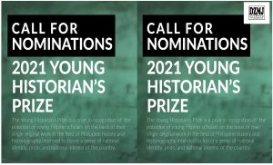 Call for Nominations: 2021 Young Historian's Prize
